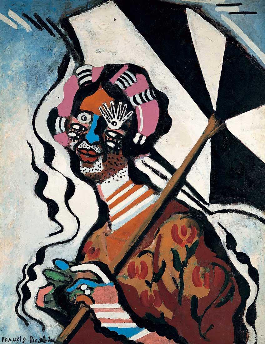 Francis Picabia. Femme à l'ombrelle, 1924-1925. Colección particular, cortesía Galerie 1900-2000, París. © Francis Picabia, VEGAP, Madrid, 2018