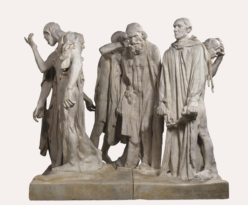 Auguste Rodin. Monumento a los burgueses de Calais, 1889 (copia moderna). Musée Rodin, París