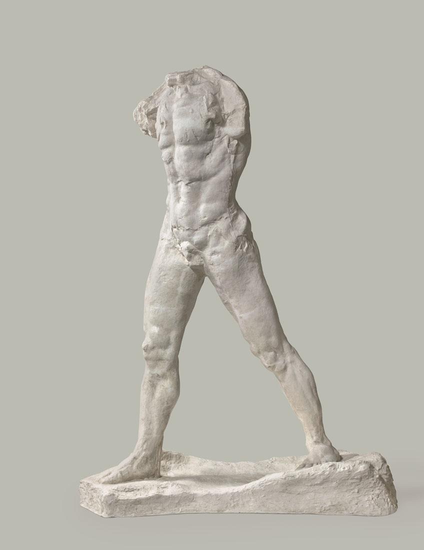 Auguste Rodin. [El hombre que camina, modelo grande, 1907. Musée Rodin, París.Foto: © musée Rodin, photo Hervé Lewandowski