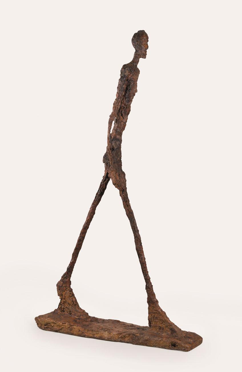 Alberto Giacometti. Hombre que camina II, 1960. Fondation Giacometti, París. Foto : Fondation Giacometti, París © Alberto Giacometti Estate / VEGAP, 2020