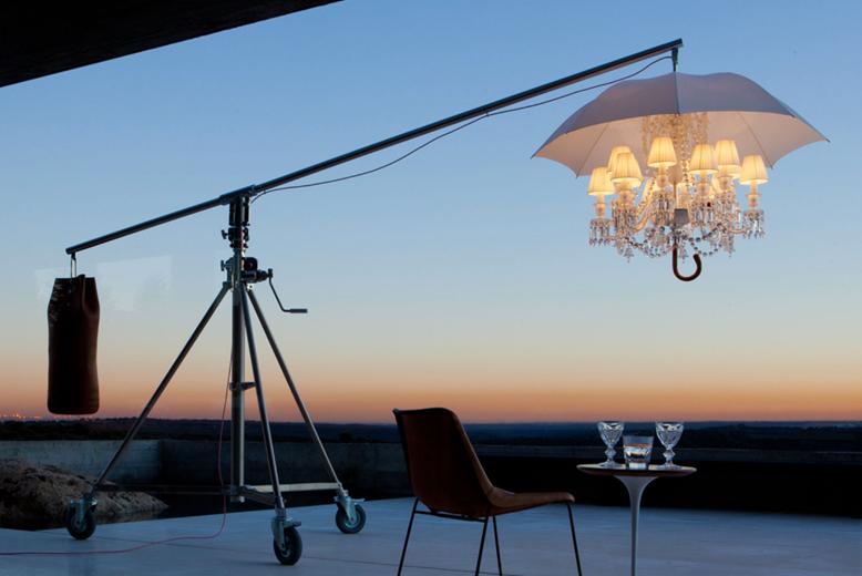 Philippe Starck. Lampara Marie Coquine de Baccarat. Galería Vértigo