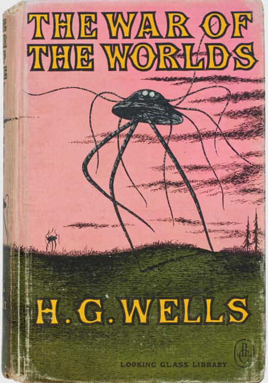 H.G. Wells. La guerra de los mundos. Looking Glass LibraryRandom House, Nueva York