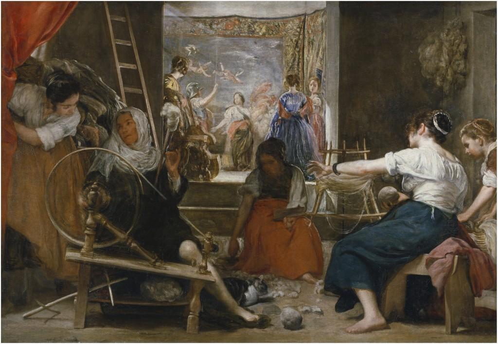 Diego Velázquez. Las hilanderas o La fábula de Aracne, 1655-60 . Madrid, Museo Nacional del Prado