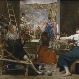 Diego Velázquez. Las hilanderas o La fábula de Aracne, 1655-60 . Madrid, Museo Nacional del Prado. Ejemplo de metapintura