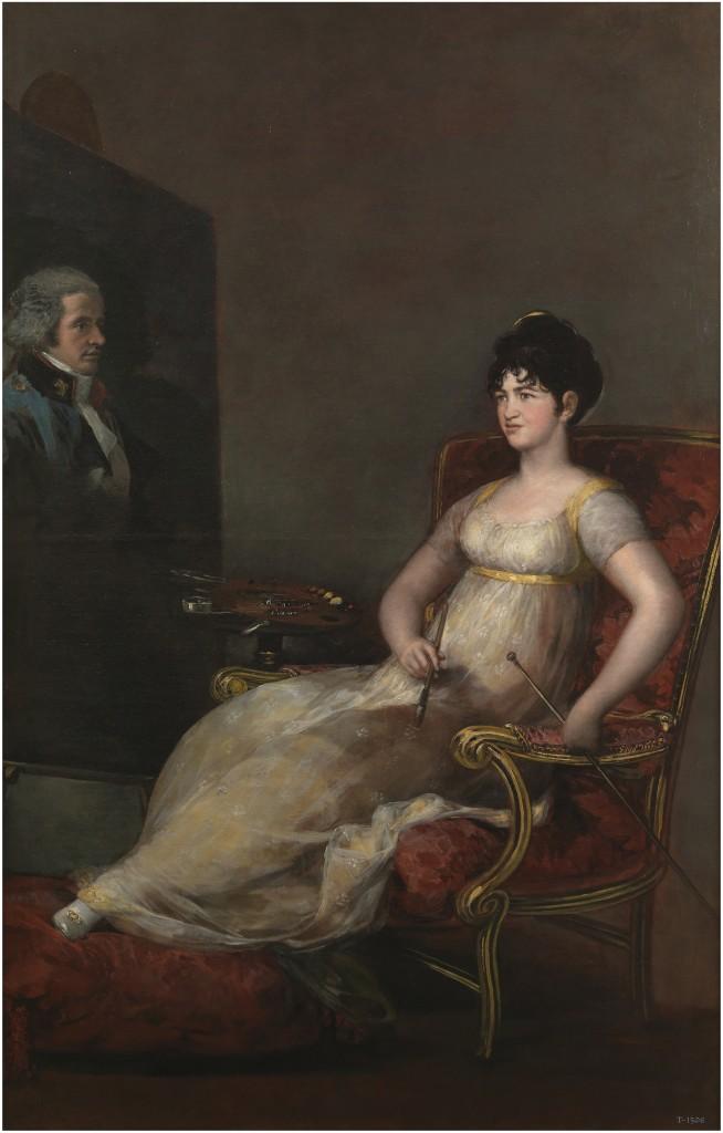 Francisco de Goya. La marquesa de Villafranca pintando a su marido, 1804. Madrid, Museo Nacional del Prado