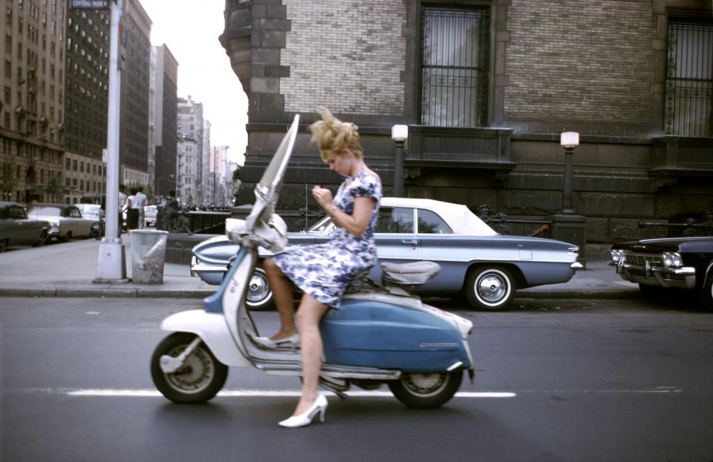 Joel Meyerowitz. Girl on a scooter, 1965