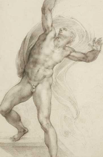 Miguel Ángel. Cristo resucitado, hacia 1532-1533. Royal Collection Trust