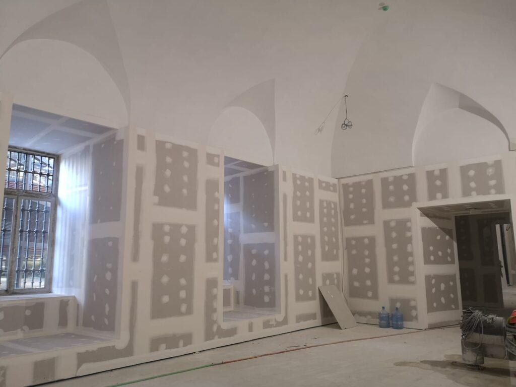 Adecuación de las nuevas salas en la planta A0 del edificio Sabatini. Museo Reina Sofía