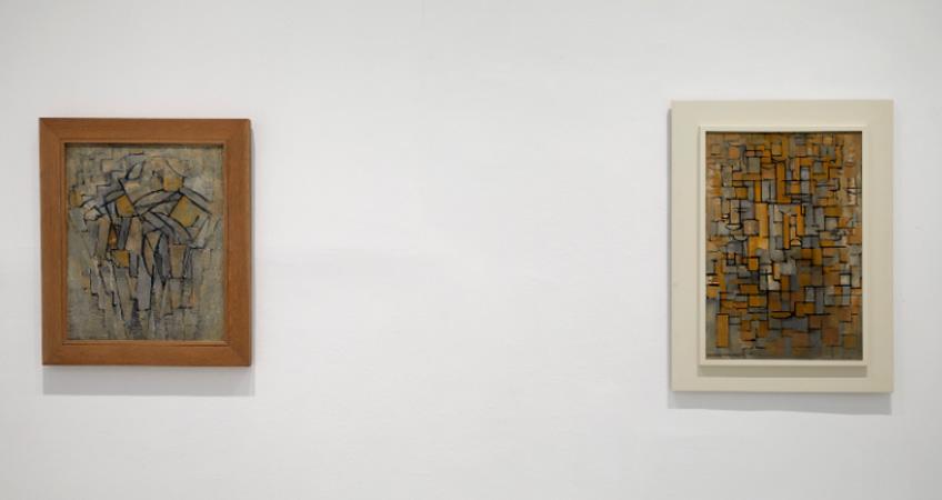 """Piet Mondrian. Composición nº XIII/Composición 2 y Composición nºXIV. """"Mondrian y De Stijl"""". Museo Reina Sofía"""
