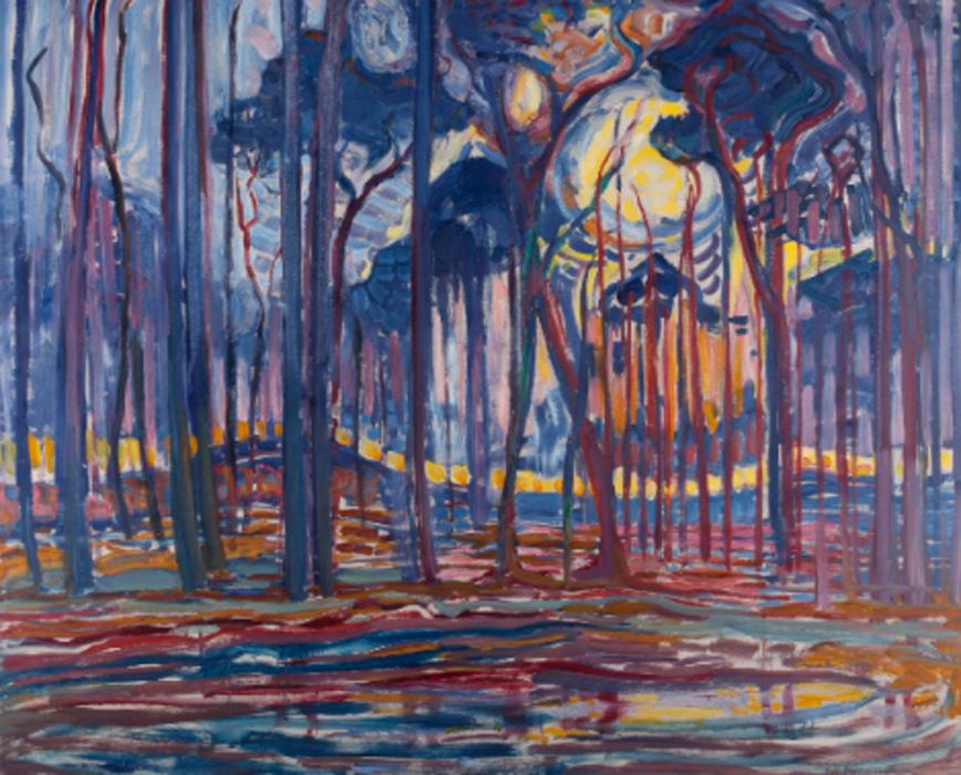 Piet Mondrian. Bosque cerca de Oele, 1908. Kunstmuseum den Haag