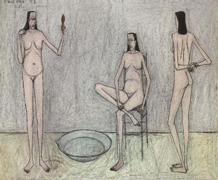 Bernard Buffet. Tres desnudos, 1949. Musée d´ Art Moderne de la Ville de París