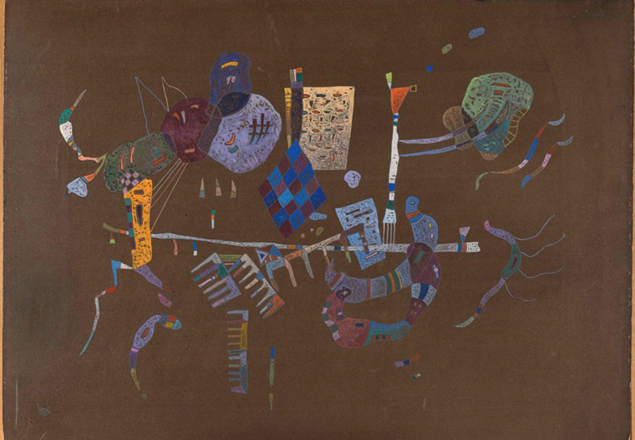 Vassily Kandinsky. Alrededor de la línea, 1943. Museo Nacional Thyssen-Bornemisza