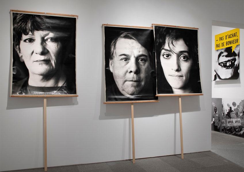 """Ne pas plier. Vista de sala de la exposición """"Marc Pataut. Primeras tentativas"""" en el Museo Reina Sofía"""
