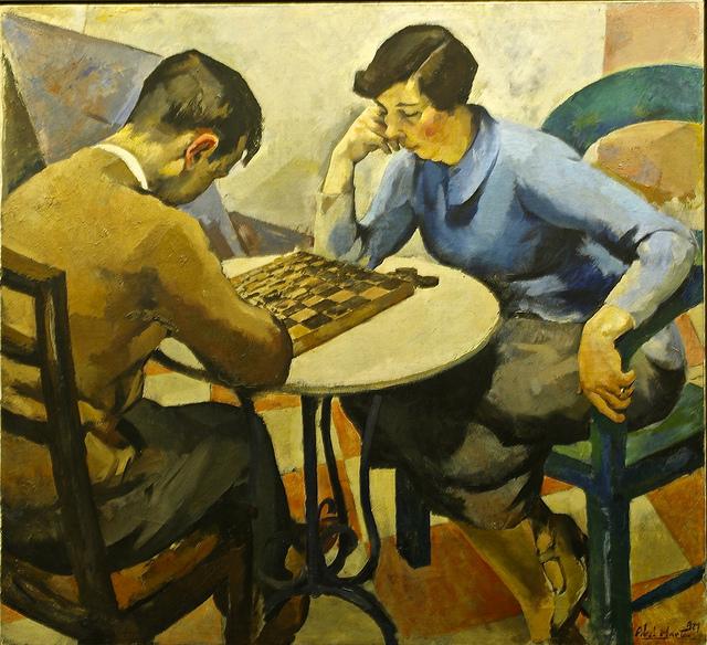 Abel Manta. Juego de damas, 1927. Museu Nacional de Arte Contemporânea do Chiado