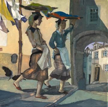 Jorge Barradas. Las vendedoras ambulantes de pescado, 1930. Museu Nacional de Arte Contemporânea do Chiado