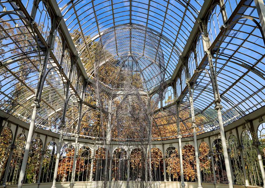 """Vista de la exposición de Jaume Plensa """"Invisibles"""" en el Palacio de Cristal. Museo Nacional Centro de Arte Reina Sofía. Foto: Joaquín Cortés/Román Lores"""