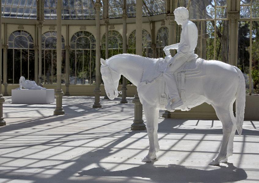 """Charles Ray. Vista de la exposición """"Cuatro moldes"""" en el Palacio de Cristal, 2019"""