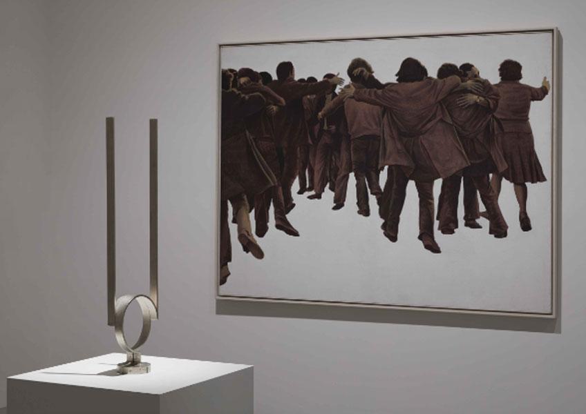 """Vista de la exposición """"Poéticas de la democracia. Imágenes y contraimágenes de la Transición"""" en el Museo Reina Sofía. Fotografía: Joaquín Cortés/Román Lores"""