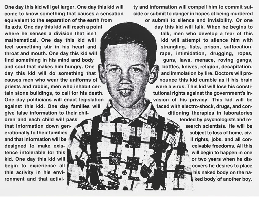 David Wojnarowicz. Sin título (Un día, este niño...), 1990-1991