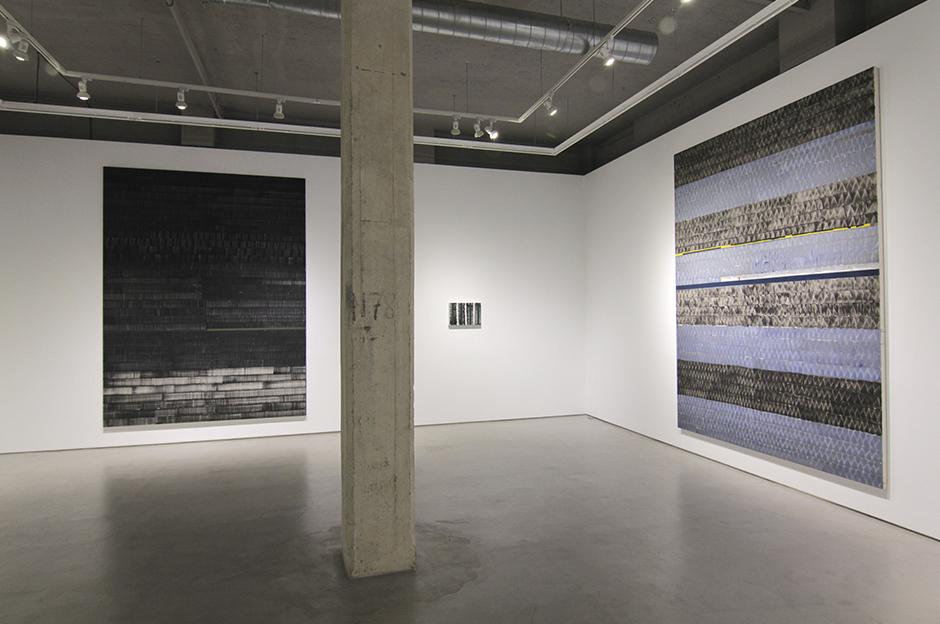 """Vista de la exposición de Juan Uslé """"De desvelos"""" en la Galería Moisés Pérez de Albéniz"""