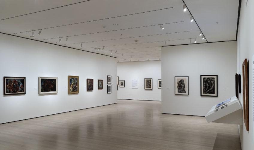 """Vista de """"Charles White: A Retrospective"""" en el MoMA"""