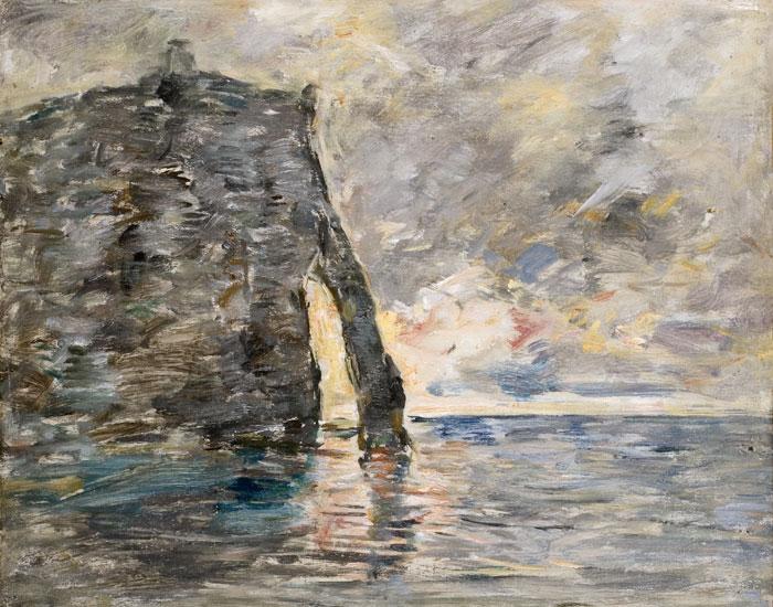 Eugène Boudin. Acantilados de Étretat, hacia 1890-1891. Musée d´ Art Moderne André Malraux, Le Havre
