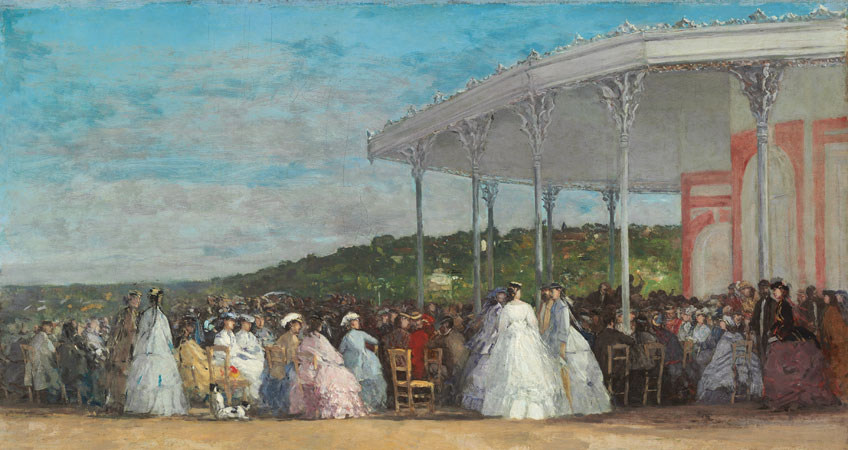 Eugène Boudin. Concierto en el Casino de Deauville, 1865. National Gallery of Art, Washington