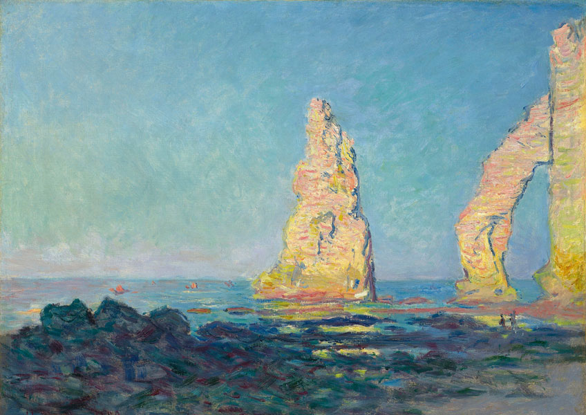 Claude Monet. La Aguja de Étretat, marea baja, 1883. Colección privada, Nueva York