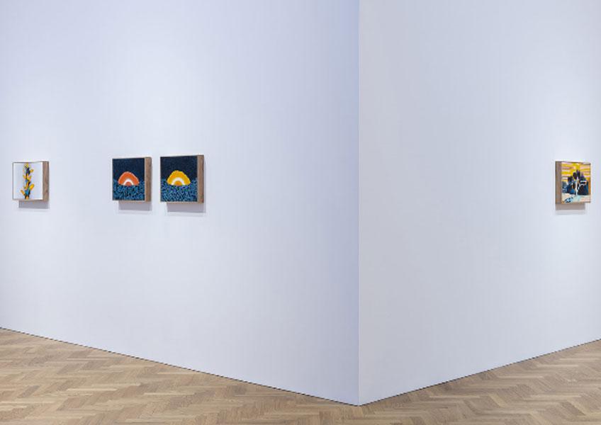 """William Monk. Vista general de William Monk. A Fool Through the Cloud"""" en la Pace Gallery de Londres"""