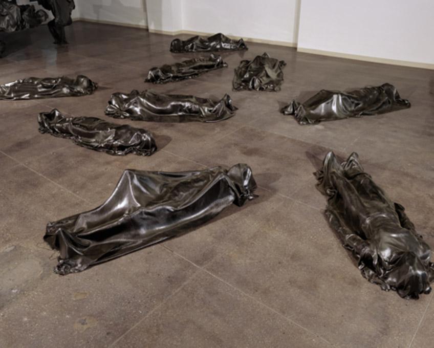 Robert Morris. MOLTINGSEXOSKELETONSSHROUDS. Castelli Gallery