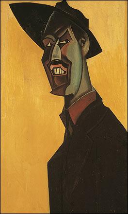 Wyndham Lewis. Mr Wyndham Lewis as a Tyro, a self-portrait, 1921