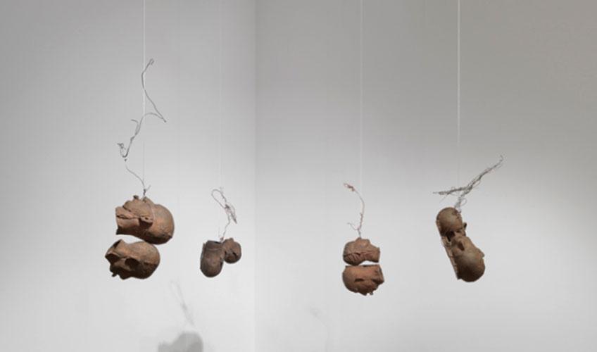 Bruce Nauman. Cuatro pares de cabezas, 1991. Colección particular