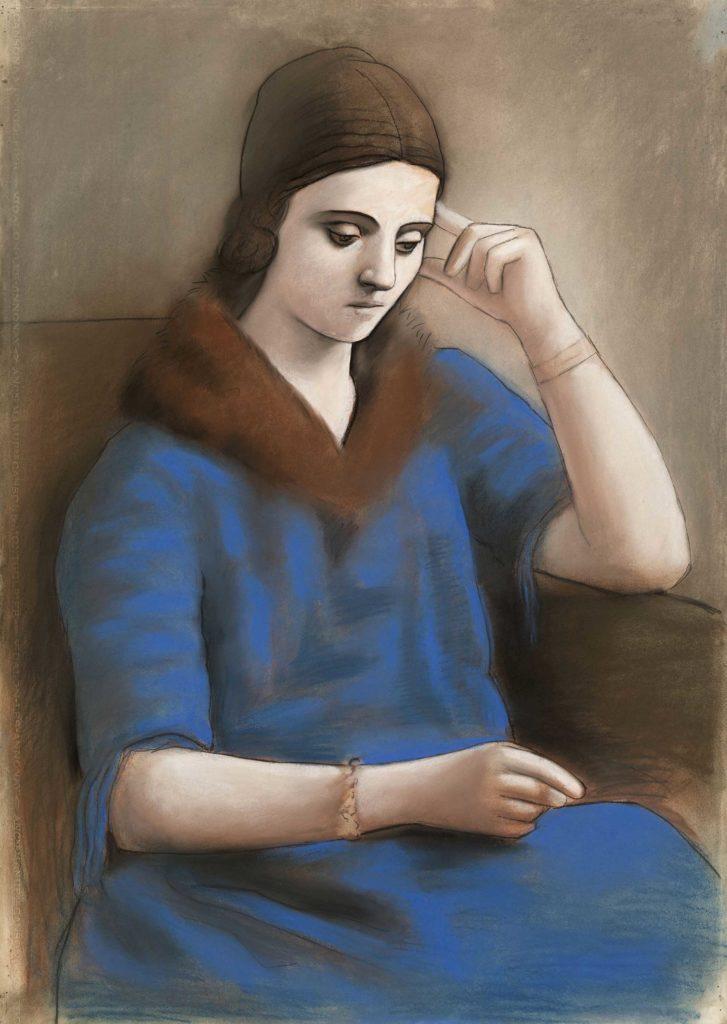 Pablo Picasso. Olga pensativa, 1923. Musée national Picasso-Paris © RMN-Grand Palais (Musée national PicassoParis)/Mathieu Rabeau © Sucesión Pablo Picasso, VEGAP, Madrid, 2019