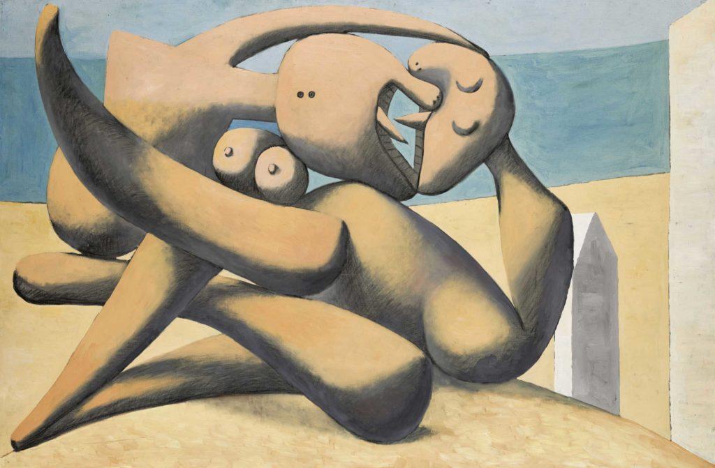 Pablo Picasso. Figuras a orilla del mar, 1931. Musée national Picasso-Paris. Dación Pablo Picasso, 1979 © RMN-Grand Palais (Musée national Picasso-Paris)/Mathieu Rabeau © Sucesión Pablo Picasso, VEGAP, Madrid, 2019