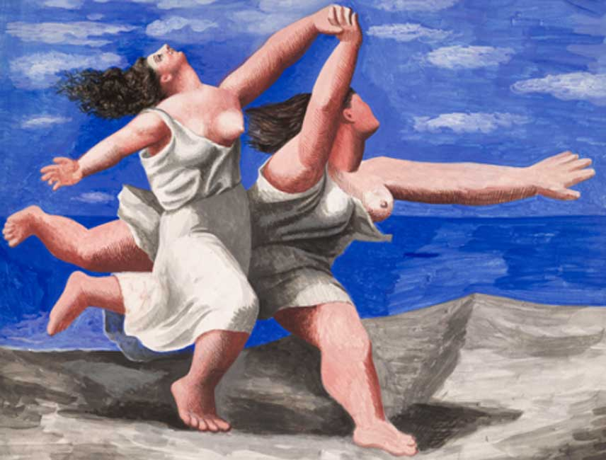 Pablo Picasso. Dos mujeres corriendo en la playa (La carrera), 1922. RMN-Grand Palais (Musée National Picasso, París). Sucesión Pablo Picasso, VEGAP, Madrid 2018.