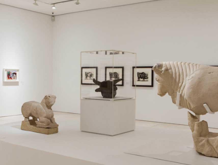 Vista de sala de la exposición. Fotografía: Jesús Domínguez. Museo Picasso Málaga