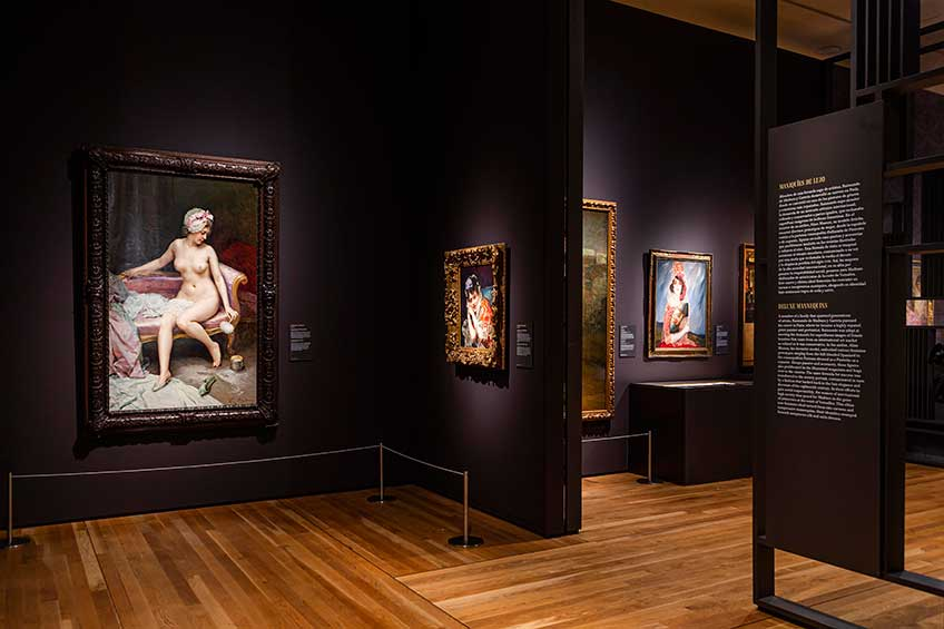 """Imagen de las salas de la exposición """"Invitadas"""". Foto © Museo Nacional del Prado"""