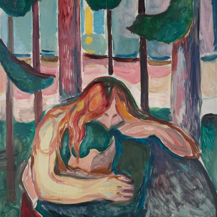 Edvard Munch. Mujer vampiro en el bosque, 1916-1918. Munch Museet
