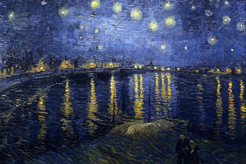 Van Gogh. Noche estrellada sobre el Ródano