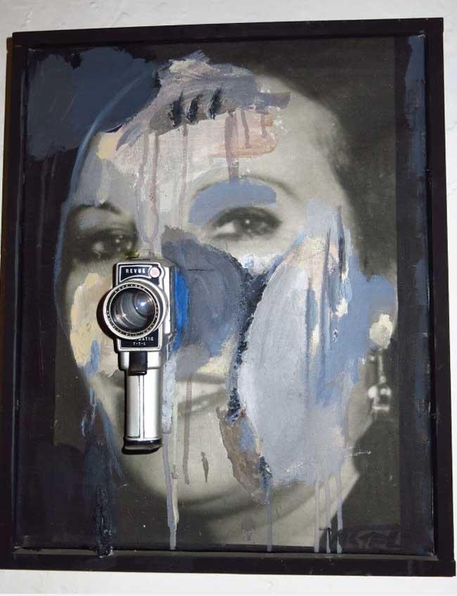 Wolf Vostell. Retrato de Mercedes