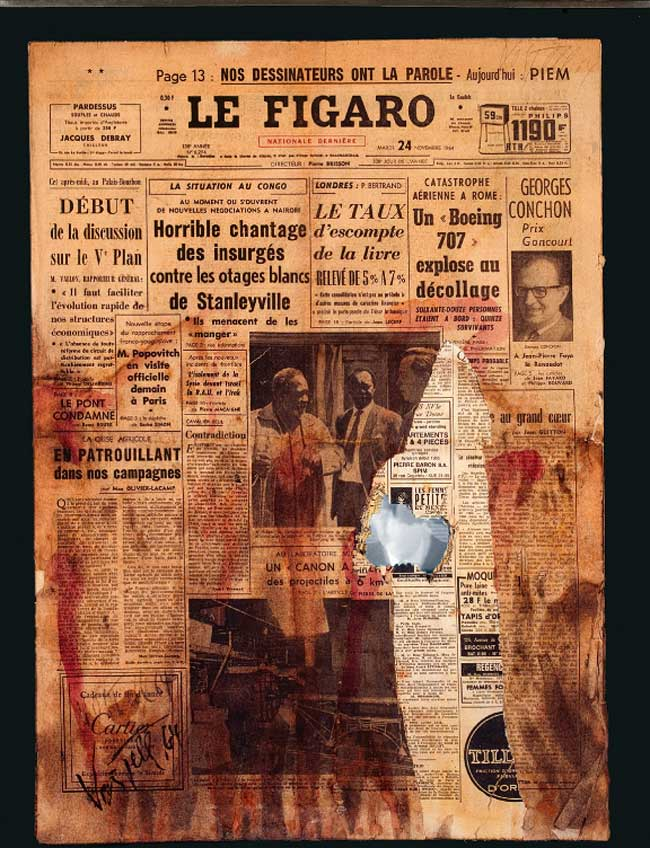 Wolf Vostell. Le Figaro, 1964