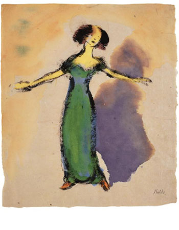 Emil Nolde. Singer (in a green dress), 1910-1911. © Nolde Stiftung Seebüll