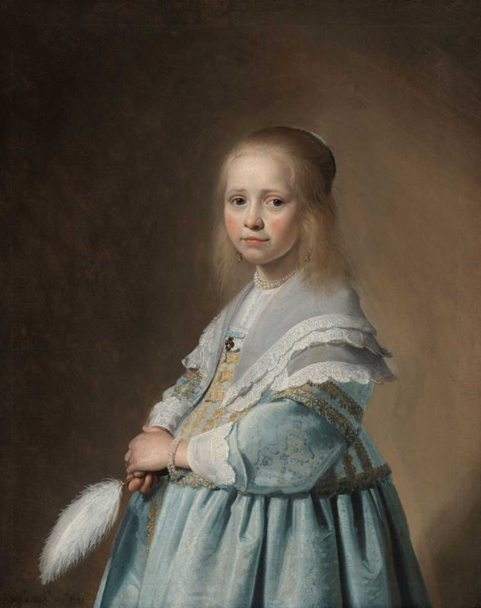 Johannes Cornelisz Verspronck. Portrait of a Girl Dressed in Blue, 1641