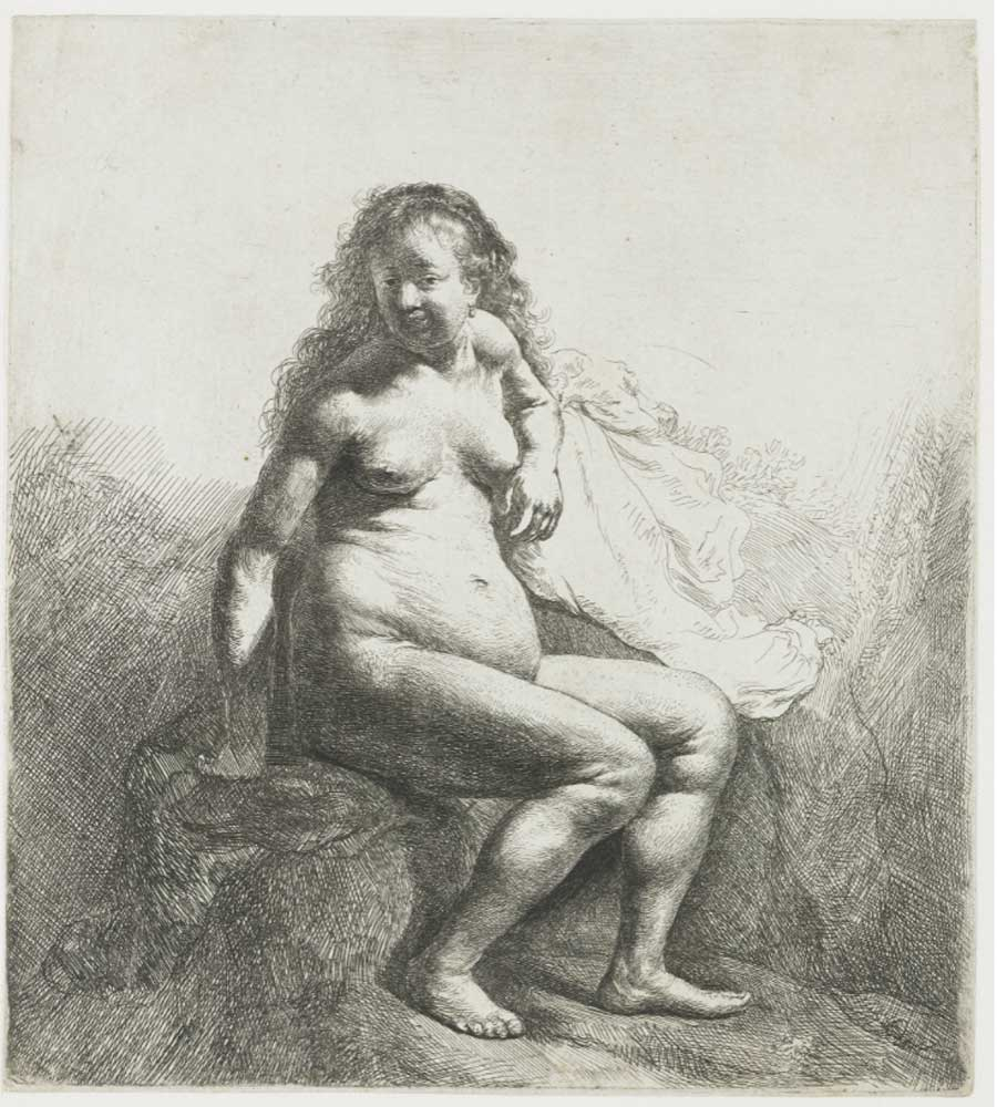 Rembrandt. Nude Woman, 1629-1633