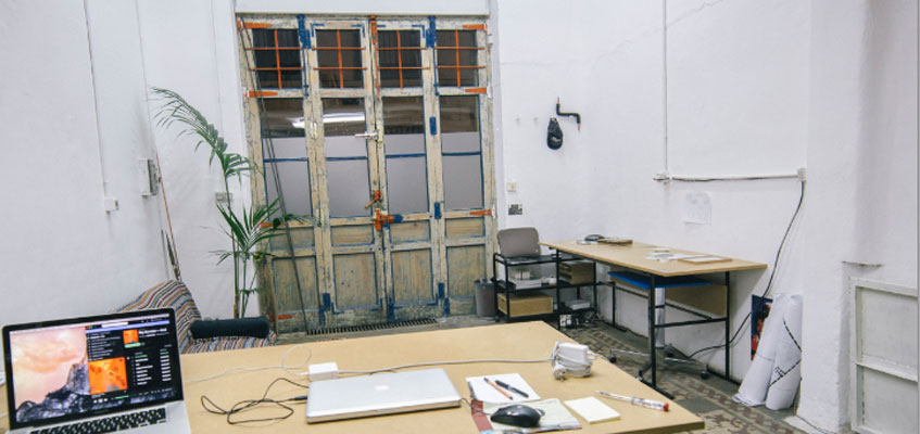 Quesada 6, donde comparten estudio Luis Rojo, Rafa Munárriz y Víctor Santamarina