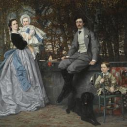 James Tissot. Retrato del Marqués y la Marquesa de Miramon y sus hijos, 1865. © Musée d'Orsay, dist. RMN-Grand Palais / Patrice Schmidt