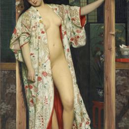 James Tissot. Mujer japonesa en el baño, 1864. © Musée des Beaux-Arts de Dijon / François Jay
