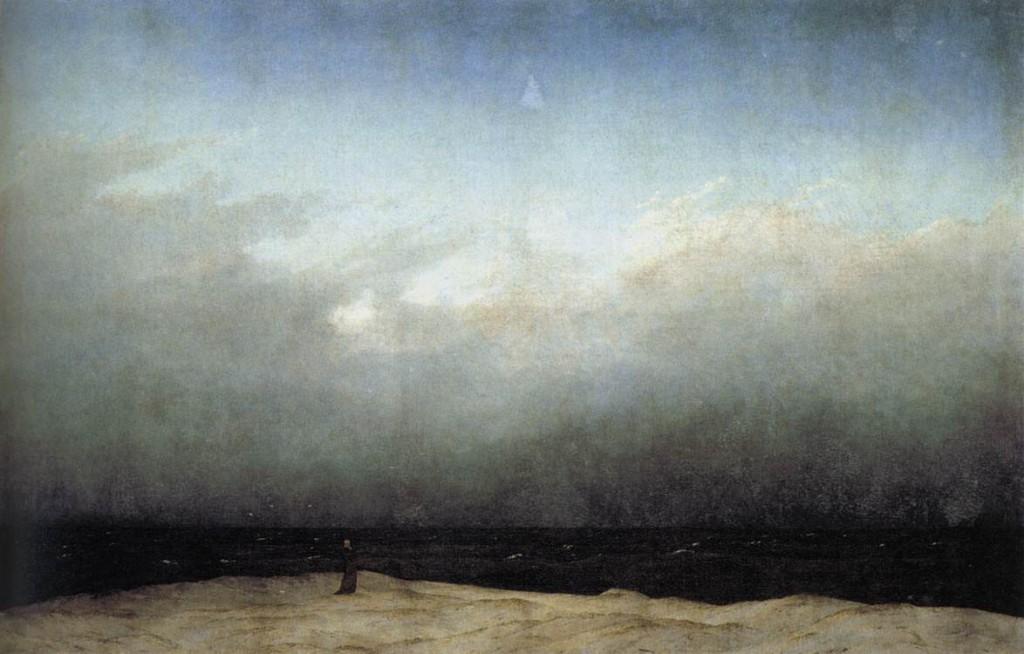 Friedrich. Monje en la orilla del mar, 1808-1810. Staatliche Museen de Berlín