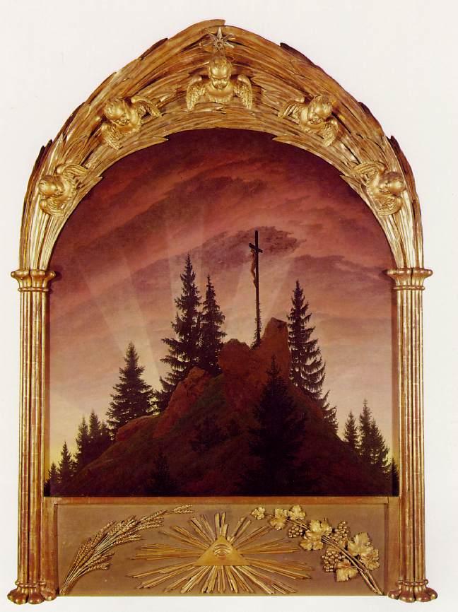 Friedrich. Altar de Tetschen, 1808. Galerie Neue Meister, Dresde