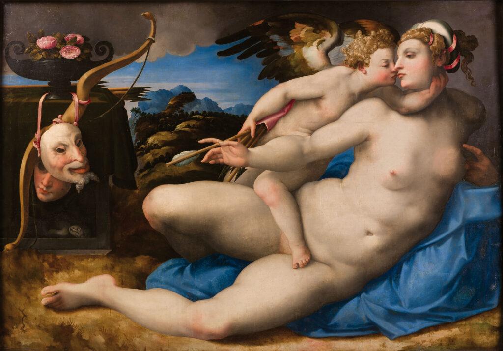Hendrik van der Broeck, según Miguel Ángel. Venus besada por Cupido, hacia 1550-1570. Nápoles, Museo e Real Bosco di Capodimonte
